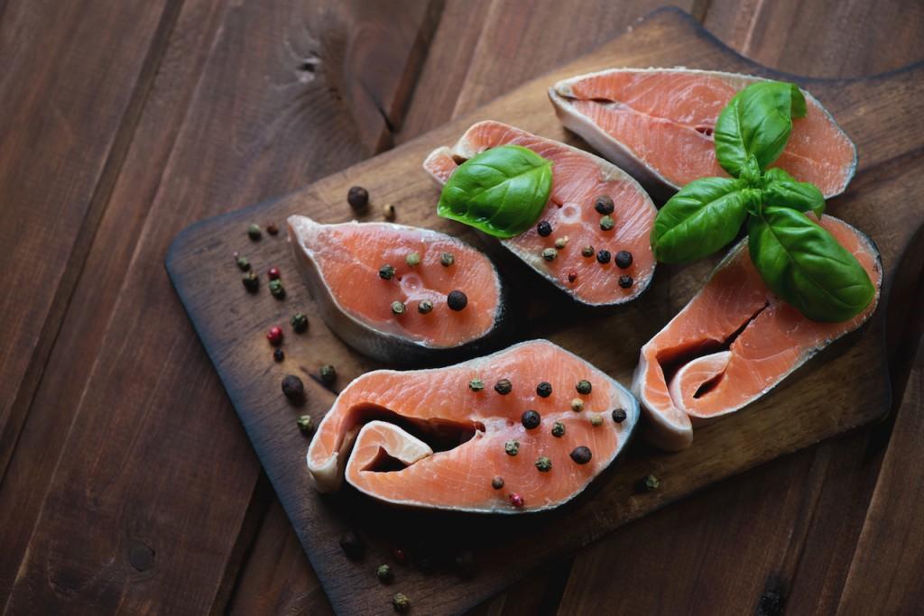ビタミンDを多く含む鮭の切り身