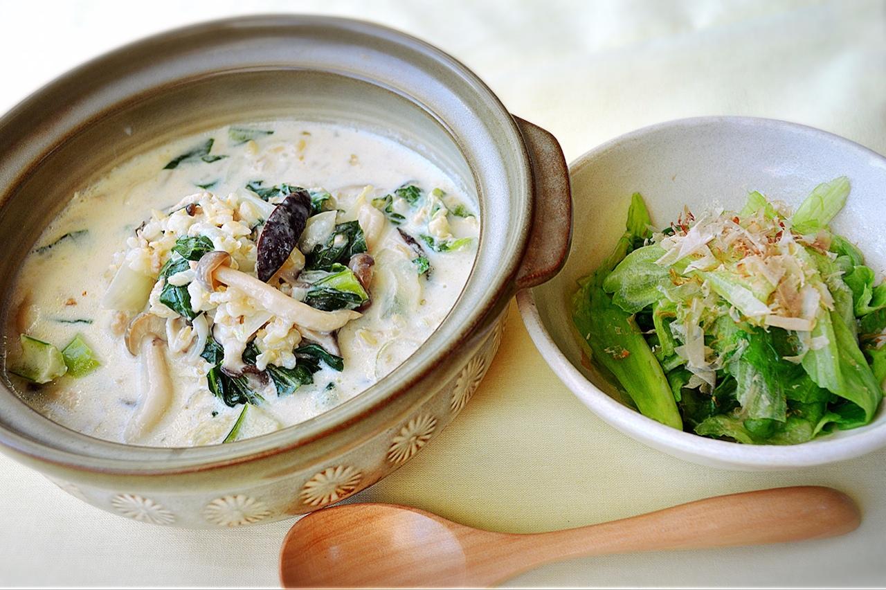 心に働くレシピ─15 ストレスが溜まって眠れないときの「豆乳雑炊」